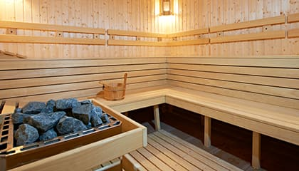 Fitness First Thailand sauna room