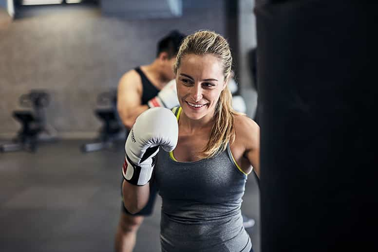 Woman in workout classes