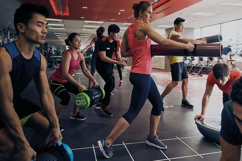 People in workout classes
